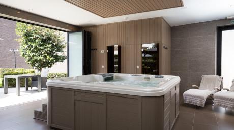 Privé sauna met bubbels