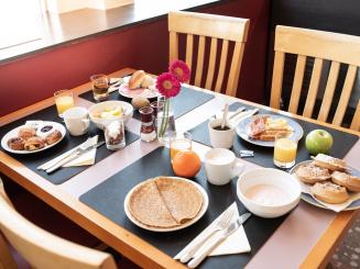 Delicious breakfast on table in Bruges Green Park Hotel Brugge.jpg