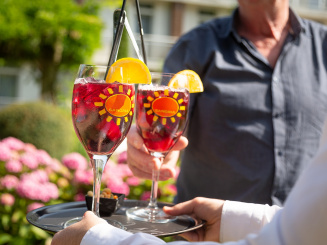 Enjoying sangria for two at Green Park Hotel Brugge.jpg